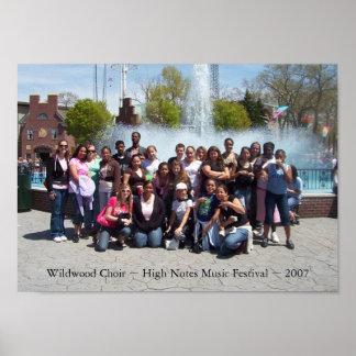 Wildwood Choir ~ High Notes Music Festival ~ 2007 Poster