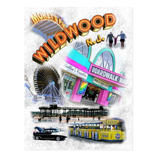 Wildwood, New Jersey Boardwalk Postcard