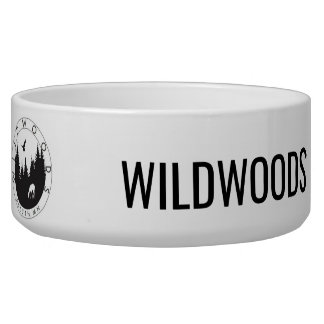 Wildwoods Logo Ceramic Pet Bowl
