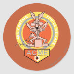 Wile E Coyote Acme - 68% Certain You'll Be Safe 2 Round Sticker