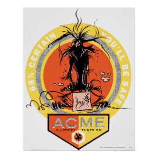 Wile E Coyote Acme - 68% Certain You'll Be Safe Posters
