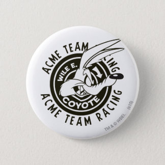 Wile E. Coyote Acme Team Racing B/W 6 Cm Round Badge