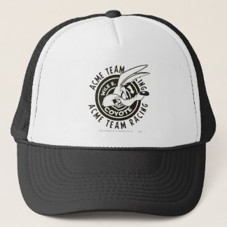 Wile E. Coyote Acme Team Racing B/W Trucker Hat