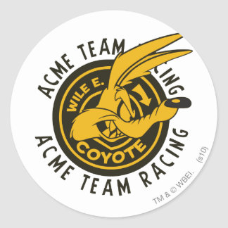 Wile E Coyote Acme Team Racing Round Sticker