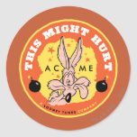 Wile E Coyote Acme - This Might Hurt Round Sticker