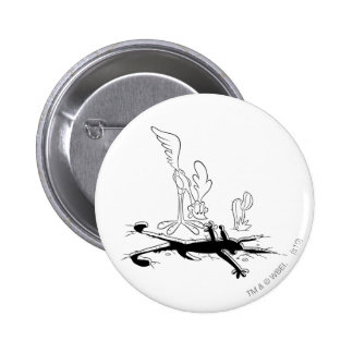 Wile E Coyote and ROAD RUNNER™ Acme Products 3 6 Cm Round Badge