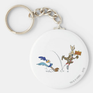 Wile E Coyote and ROAD RUNNER™ Acme Products 7 Basic Round Button Key Ring