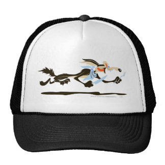 Wile E. Coyote Chasing dinner Trucker Hat