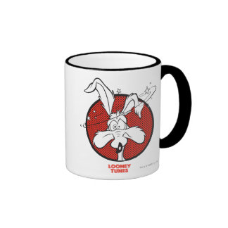 Wile E. Coyote Dotty Icon Ringer Mug