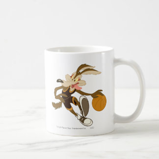 Wile E Coyote Dribbling Through Competition Basic White Mug