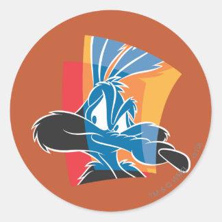 Wile E Coyote Expressive 22 Round Sticker