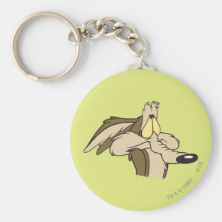 Wile E. Coyote Impending Doom Basic Round Button Key Ring
