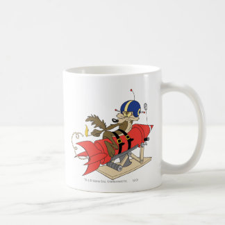 Wile E. Coyote Launching Red Rocket Coffee Mug