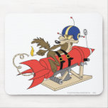 Wile E. Coyote Launching Red Rocket Mouse Pad