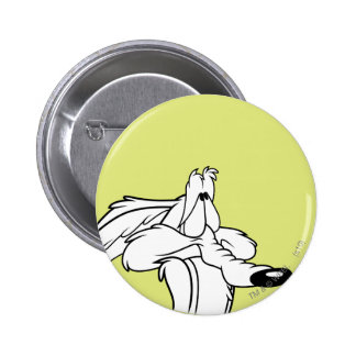 Wile E. Coyote Looking Up 6 Cm Round Badge