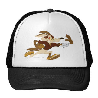 Wile E Coyote Stiff Arm B/W 2 Trucker Hats