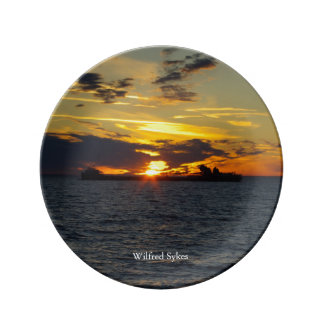 Wilfred Sykes sunset decorative plate