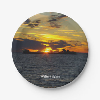 Wilfred Sykes sunset paper plate