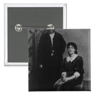 Wilhelm Liebknecht and Eleanor Aveling 15 Cm Square Badge