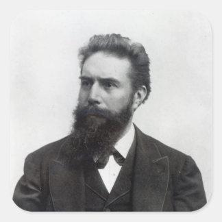 Wilhelm Rontgen Square Sticker