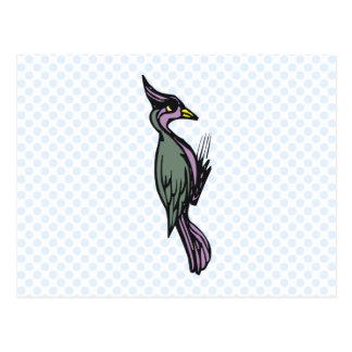 Wilhemina Woodpecker Postcard
