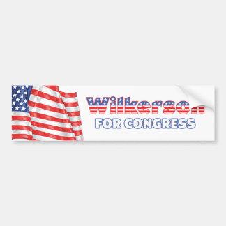Wilkerson for Congress Patriotic American Flag Des Bumper Sticker