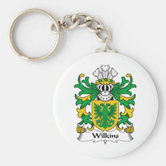 Wilkins Family Crest Basic Round Button Key Ring