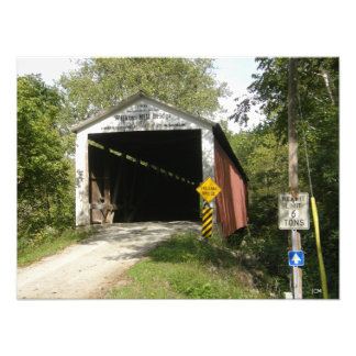Wilkins Mill Bridge, Parke County, IN Photo Print