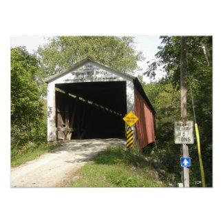 Wilkins Mill Bridge, Parke County, IN Photo Print