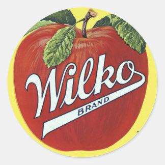 Wilkko vintage brand round stickers