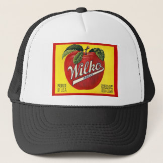 Wilko Brand Apples Vintage Label Trucker Hat