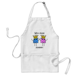 Will and Kate Adult Apron