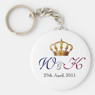Will and Kate Monogram Keepsake Keychain