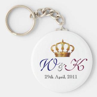 Will and Kate Monogram Keepsake Keychain
