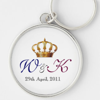 Will and Kate Monogram Primium  Keychain (Large)
