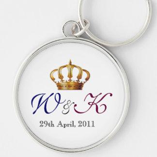Will and Kate Monogram Primium  Keychain (Large)