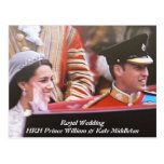 Will and Kate Royal Wedding Postcards