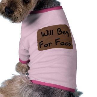 Will Beg For Food Ringer Dog Shirt