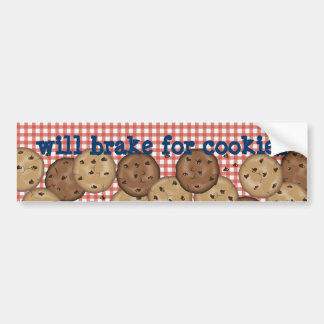 Will Brake For Cookies Bumper Sticker