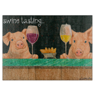 "Will Bullas cutting board ""swine tasting..."""