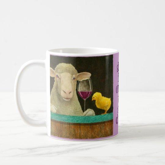 """Will Bullas mug """"sheep-faced on wine..."""""""