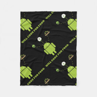 Will Code For Food (Android Software Developer) Fleece Blanket