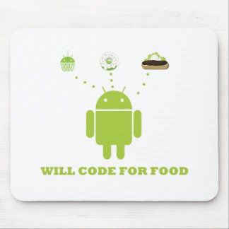 Will Code For Food (Android Software Developer) Mouse Mat
