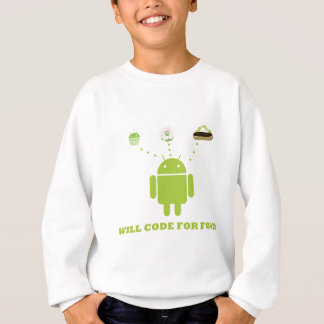 Will Code For Food (Android Software Developer) Sweatshirt