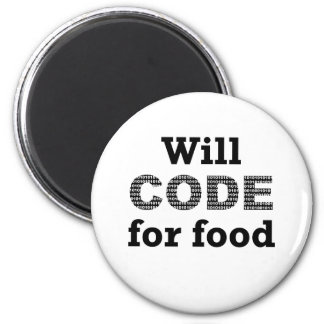 Will Code For Food Magnet