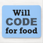 Will Code For Food Mousepad