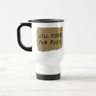 Will Code For Food Travel Mug