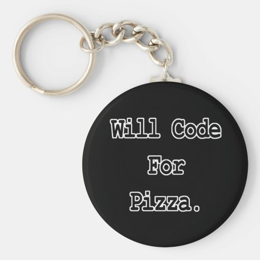 will code for pizza key chains