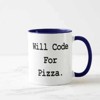 will code for pizza mug