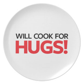Will Cook for Hugs Party Plate
